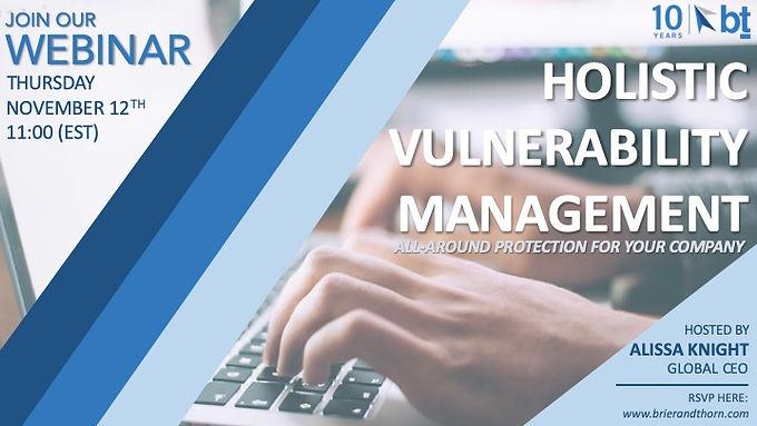 Holistic Vulnerability Management