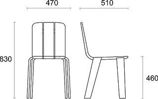 krzesło Saski wymiary
