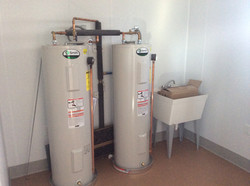 Hot water plumbing set up