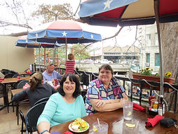 Elaine and I having lunch at ICTCM in San Antonio