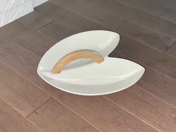 double serving platter