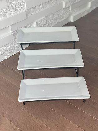 3 tier adjustable serving tray