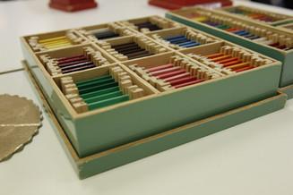 Montessori colored tablets.