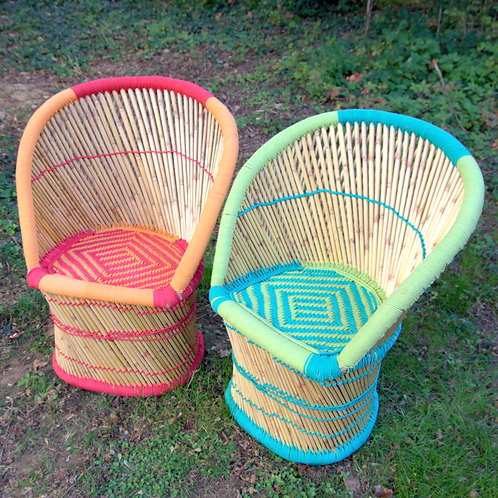 Vibrant Wicker Chairs