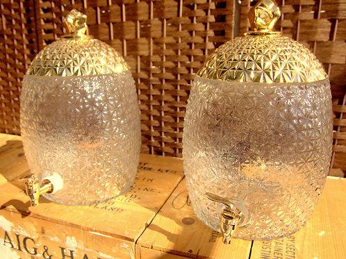 Gold Top Pineapple Drink Dispenser