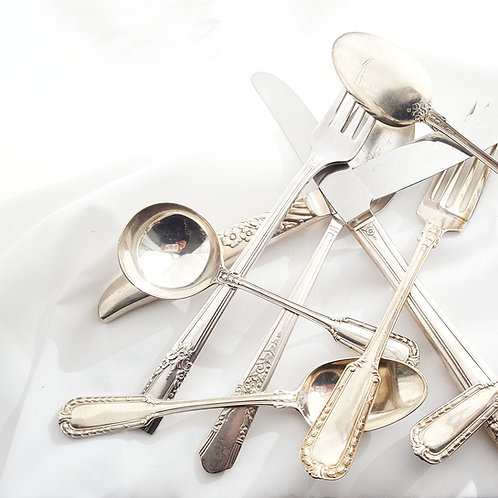 Mismatched Antique & Vintage Sterling/Silver Plated Flatware