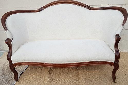 White Antique Victorian Loveseat