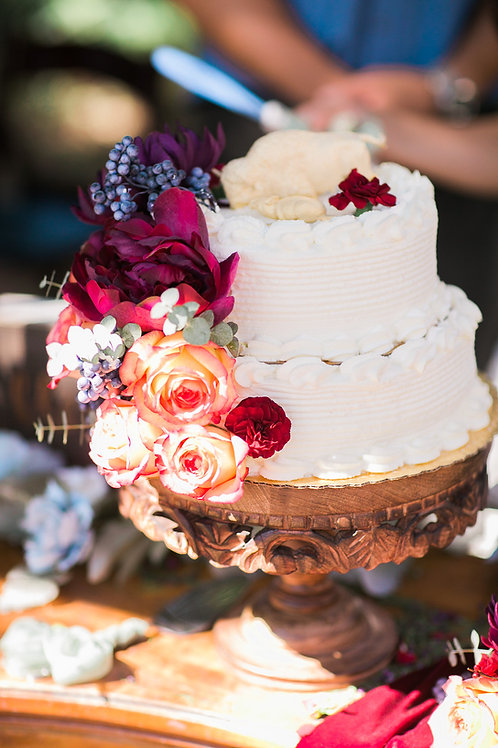Wooden Bohemian Cake Stand