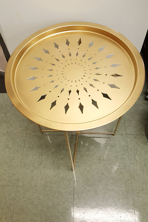 Gold Tray Side Table