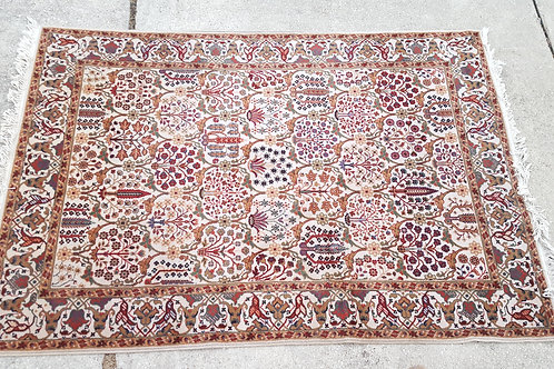 White Floral Oriental Rug