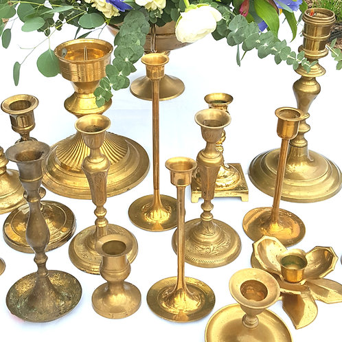 Gold Candleholders