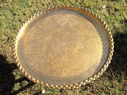 Moroccan Brass Tea Table