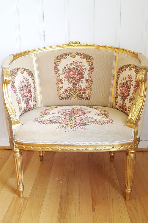 French Gilded Needlepoint Chairs