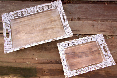 Bohemian Wood Serving Trays