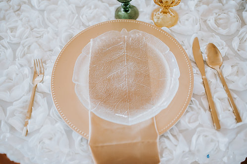 Pressed Glass Aspen Luncheon Plates
