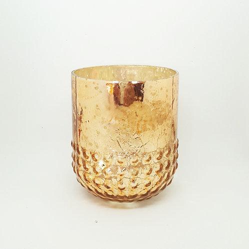Copper Rose Gold Mercury Glass Votive
