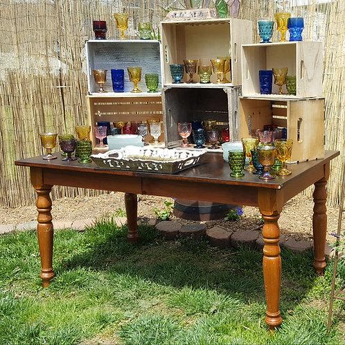 Mocha Brown Farmhouse Table