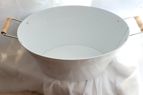 White Galvanized Tub
