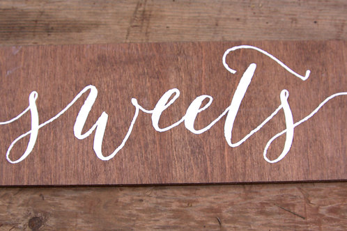 Wood Sweets Sign