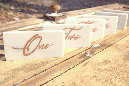 Rose Gold Copper Writing Table Numbers