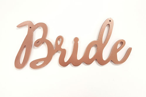 Copper Rose Gold Bride Sign