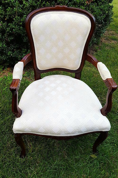 White Louis XV Chair