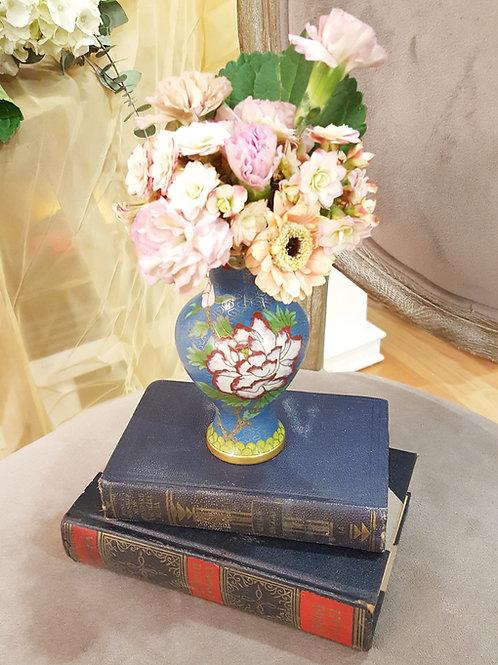 Blue Cloissone Vase