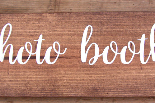 """Wood """"photo booth"""" Sign"""