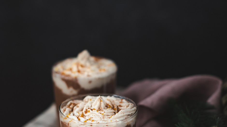 HOT COCOA WITH WHIPPED COCONUT CREAM