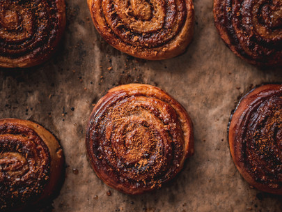 cinnamon peanut butter buns (swedish buns)