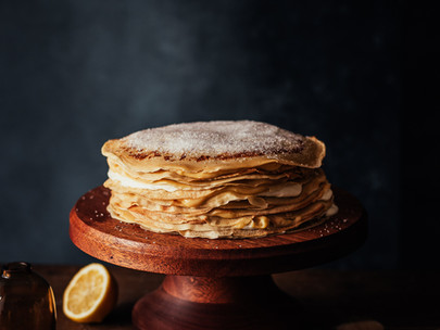 honey lemon curd crepe cake