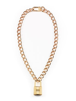 Chain-Link Lock Necklace