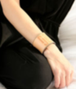 leather cuffs, leather accessories, made in USA, AYLA, New York City, numerology