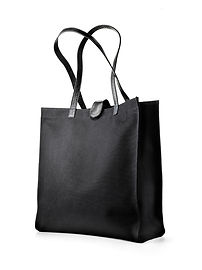 Tote bag, canvas tote, black canvas tote, canvas tote leather trim, made in USA handbags