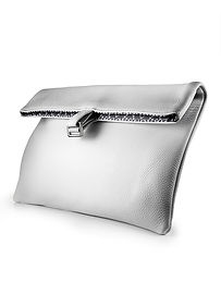 foldover clutch, leather clutch, white clutch, evening clutch, day clutch, clutch bag, silver clutch, made in USA handbags