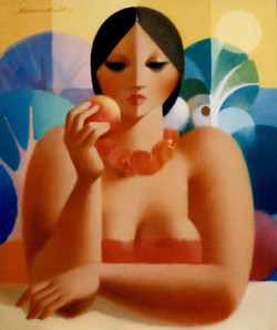 •Dona amb fruta