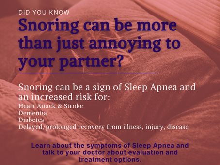Snoring: more than just annoying to your partner?