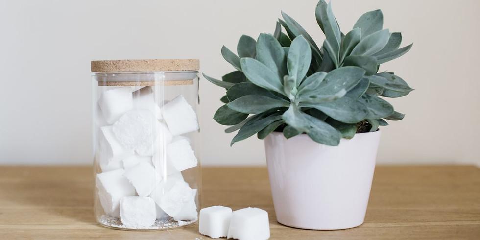 Report de l'atelier écologique : j'apprends à faire mon cake vaisselle/pastilles WC et nettoyant multi-usages