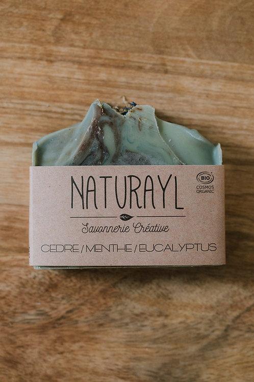 Savon Cèdre, Menthe et Eucalyptus