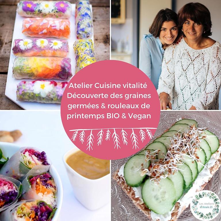 Atelier cuisine : graines germées et rouleaux de printemps bio et végétariens!    (1)