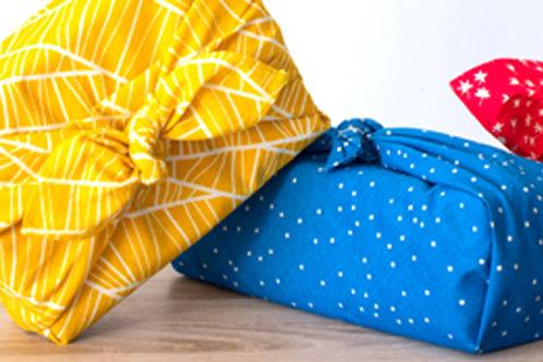 Furoshiki, emballage de cadeau en tissu coton BIO Gaspajoe
