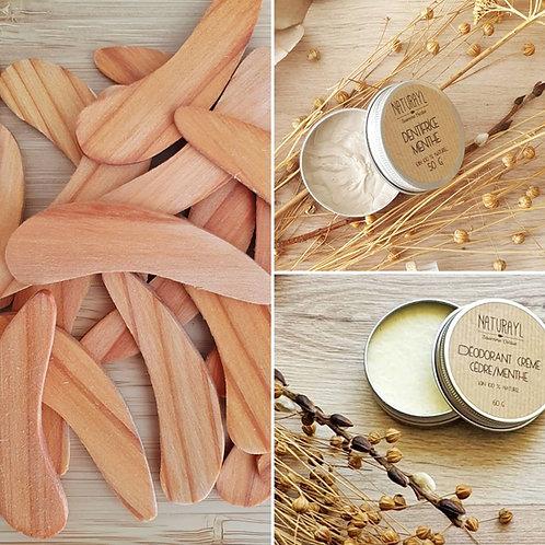 Spatule en bois pour déo & dentifrice
