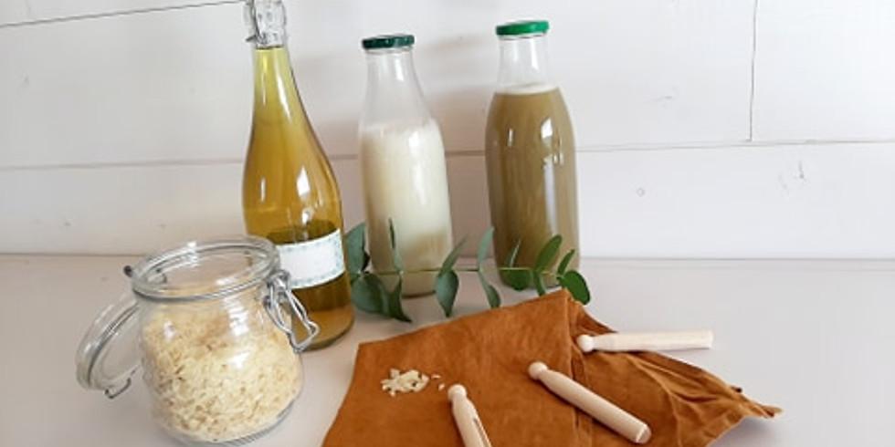 atelier écologique : fabriquer 3 types de lessives naturelles et 2 adoucissants