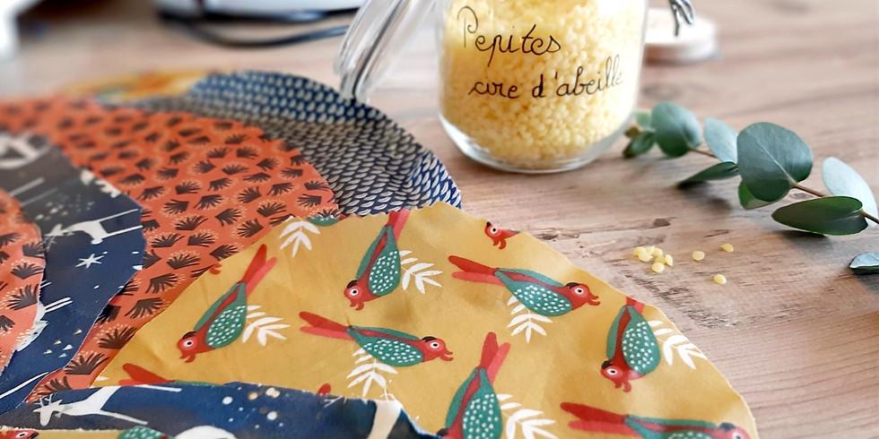 Atelier cuisine : spécial pique-nique zéro déchet, BEEWRAPS et aliments BIO et de saison!