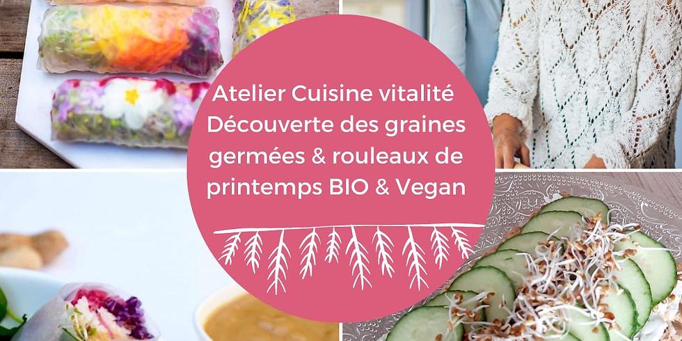 Spéciale Fête des Mère - Atelier cuisine en Duo : découverte des Graines germées & rouleaux de printemps bio&végétariens