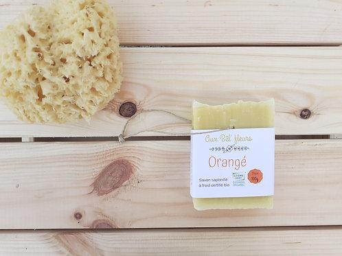 Savon artisanal Bio à l'orange Aux Bel'Fleurs