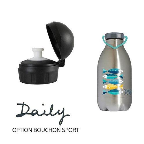 Pack Gourde DAILY 450ml inox +bouchon sport