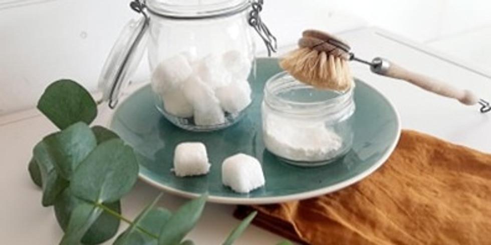 Atelier écologique : spécial vaisselle : Cake vaisselle, pastille lave-vaisselle, tawashi, spray mutli-usages
