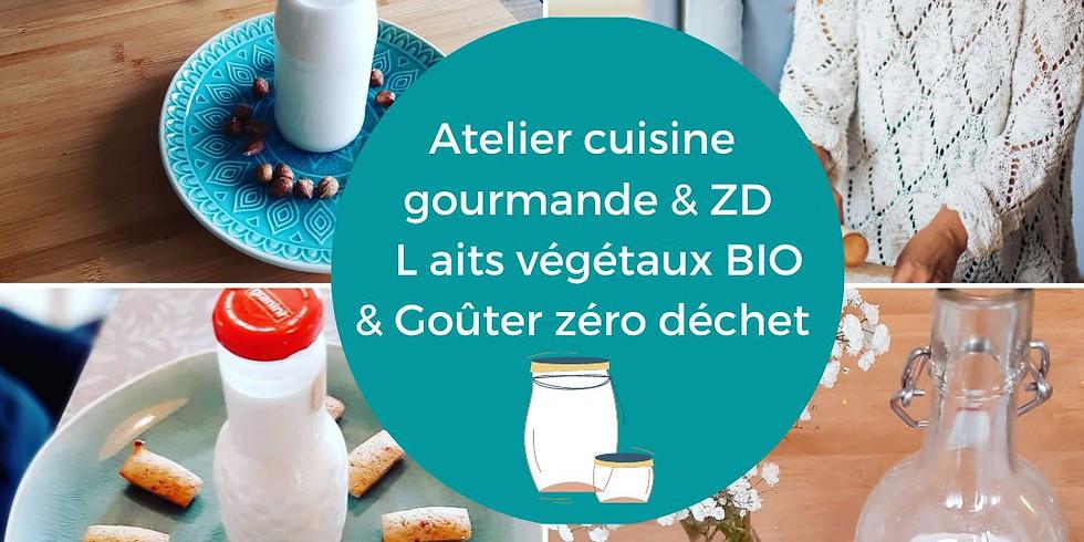 Atelier cuisine gourmande & zéro déchet :découverte des laits végétaux et goûter  zéro déchet