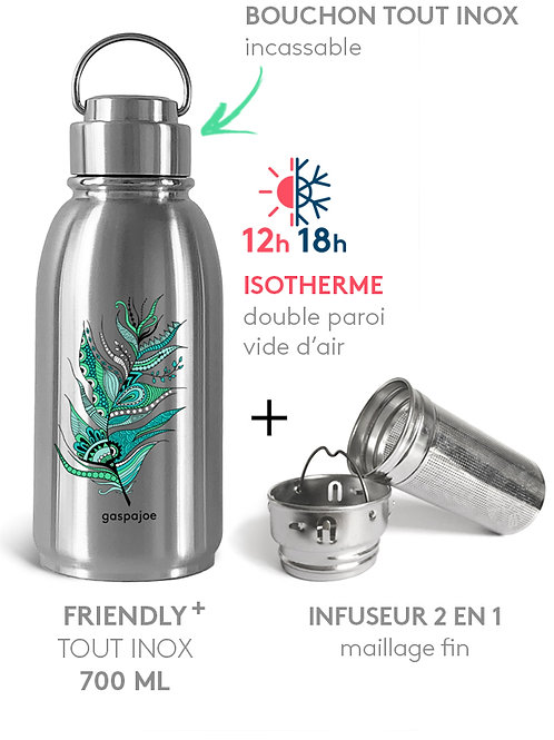 PACK GOURDE FRIENDLY+ ISOTHERME700ML